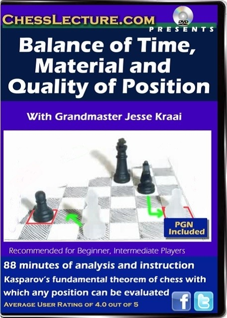 Balance of Time, Material and Quality of Position front