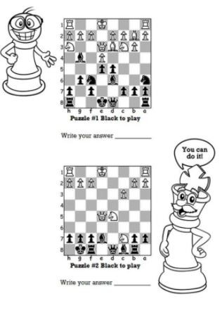 graphic relating to Printable Chess Puzzles identify Novice Chess Strategies for Little ones