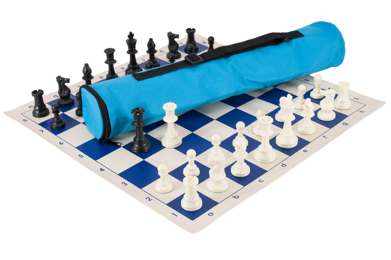 /& Black /& White Plastic Chess Pieces Red Board Red Bag Quiver Chess Set Combo