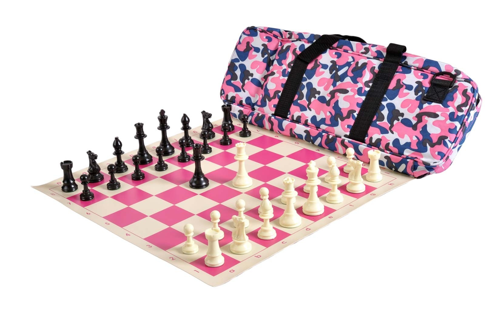 4 Pack US Chess Federation/'s Deluxe Chess Bag Forest Green