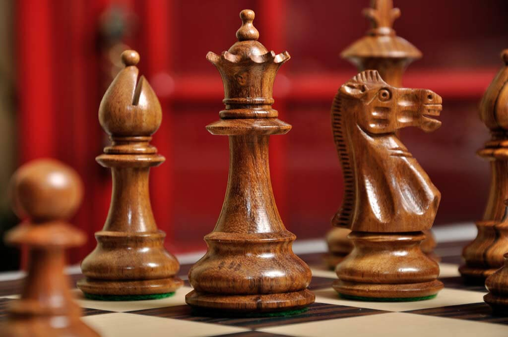 The Royale Chess Set And Board Combination