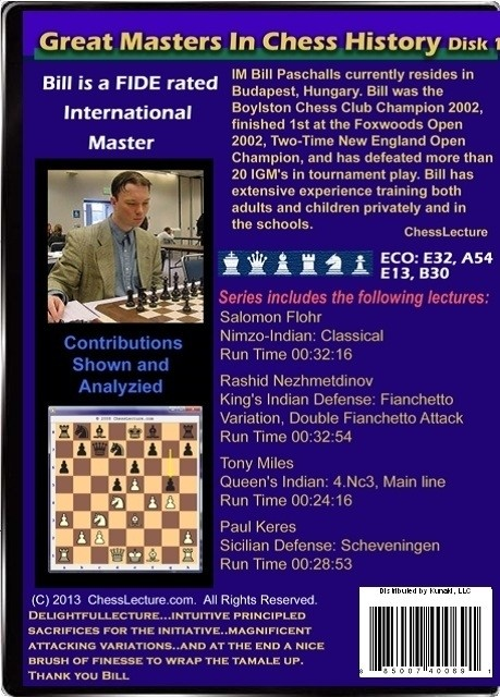 Great Masters in Chess History V1 back