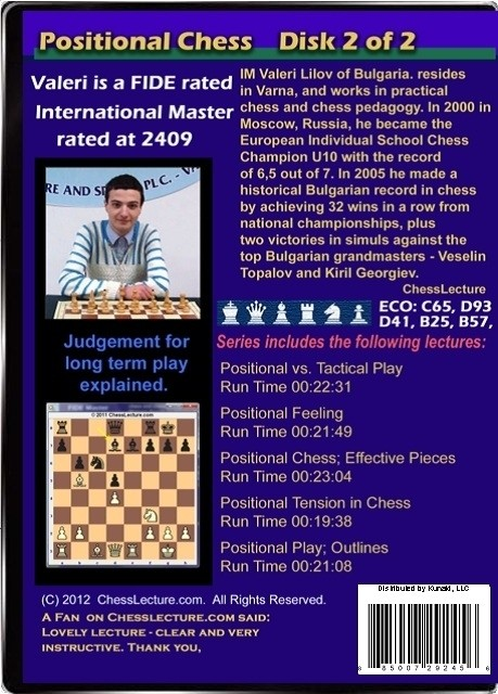 Positional Chess Volume 1 Back