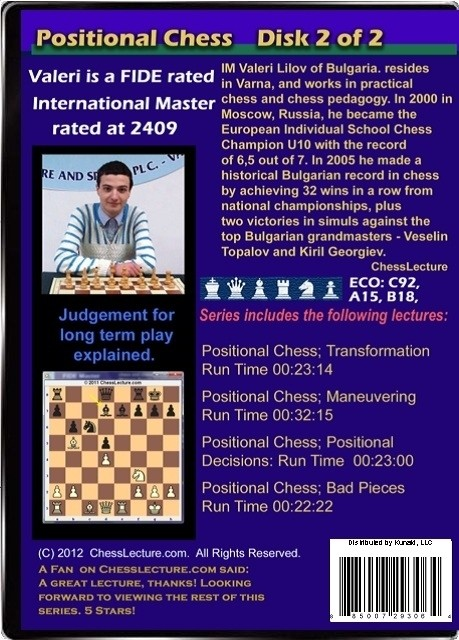 Positional Chess Volume 2 back