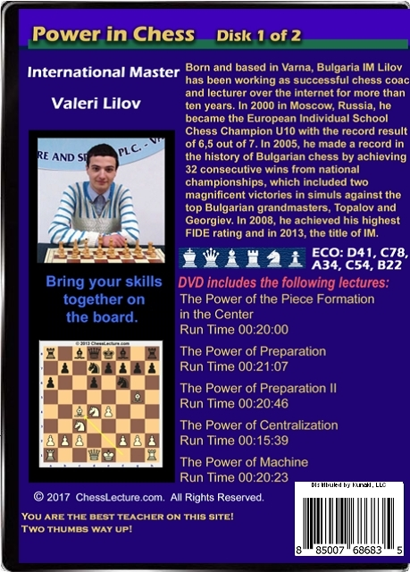 Power in Chess DVD Back Volume 1