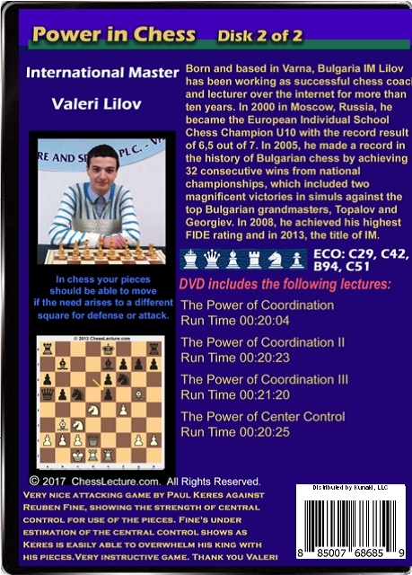 Power in Chess DVD Back Volume 2