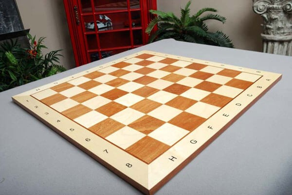 Maple and Mahogany Wooden Tournament Chess Board