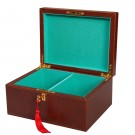 Premium Leather Chess Box - Brown