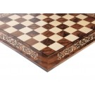 INLAID - Walnut Burl & Maple Superior Traditional Chess Board - Gloss Finish