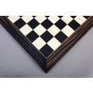 Black Anegre, Bird's Eye Maple & Macassar Ebony Standard Traditional Chess Board - Satin Finish