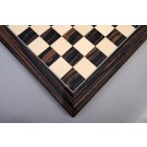 Macassar Ebony & Maple Standard Traditional Chess Board - Gloss Finish