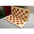 Folding Maple and Mahogany Wooden Tournament Chess Board