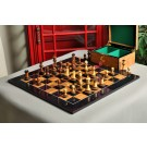 The Burnt Golden Rosewood Grandmaster Series Chess Set, Box, & Board Combination