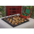The Burnt Golden Rosewood Dubrovnik Series Chess Set, Box, & Gloss Olivewood Board Combination