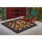 The Burnt Golden Rosewood Dubrovnik Series Chess Set, Box, & Satin Olivewood Board Combination