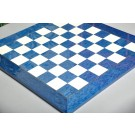 Blue Erable and Bird's Eye Maple Standard Traditional Chess Board - Gloss Finish