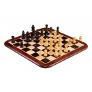 """WOODEN Travel Chess Set with Rounded Frame - 12"""" - Indian Rosewood"""