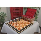 The Golden Collector Series Luxury Wood Chess Set, Box, & Board Combination
