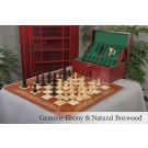 The Broadbent Series Luxury Chess Set, Box, & Board Combination