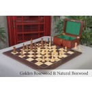 The Congress Series Luxury Chess Set, Box, & Board Combination