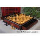 The W. T. Pinney Series Chess Set & Tiroir Board Combination