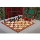 "The New Fischer Spassky Series Chess Set, Box & Board Combination - 3.75"" King"
