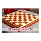 "Signature Contemporary IV Luxury Chess board - BUBINGA / CURLY MAPLE - 2.5"" Squares"