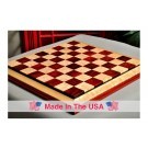 "Signature Contemporary III Luxury Chess board - COCOBOLO / BIRD'S EYE MAPLE - 2.5"" Squares"