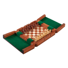 """ULTIMATE WOODEN Magnetic Travel Chess Set - 8"""""""
