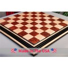 "Signature Contemporary Chess Board - VASTICOLA BURL  / BIRD'S EYE MAPLE - 2.5"" Squares"