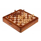 """WOODEN MAGNETIC Top-Up Travel Chess Set - 10"""" Square"""