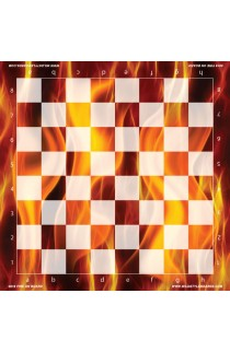 Fire on Board - Full Color Vinyl Chess Board
