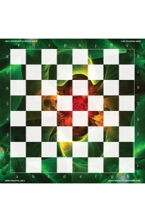 Fractal No. 1 - Full Color Vinyl Chess Board