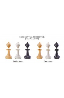 "The Next Gen Pawns Plastic Chess Pieces - 3.75"" King - Sergeant Variation"