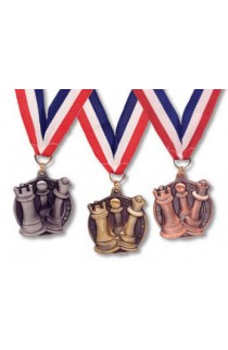 Round Chess Medals