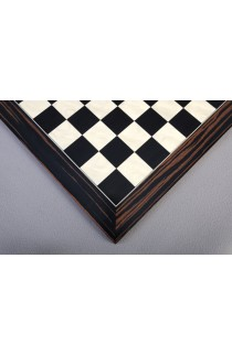 Macassar Ebony & Black Anegre Standard Traditional Chess Board - Satin Finish