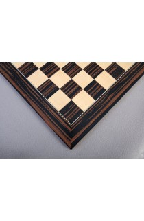 Macassar Ebony Standard Traditional Chess Board - Satin Finish
