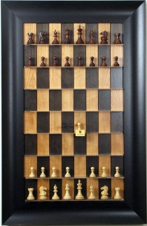 """Straight Up Chess Board - Black Cherry Series with 3 1/2"""" Wide Scoop"""