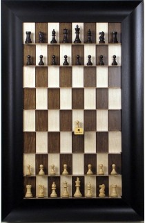 Straight Up Chess Board - Maple Nut Series with the Wide Scoop