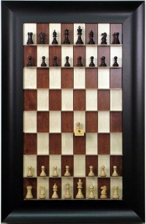 "Straight Up Chess Board - Red Maple with 3 1/2"" Wide Scoop Frame"