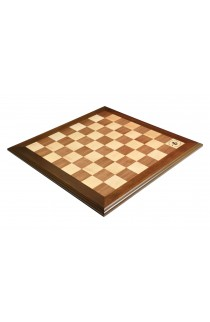 "Walnut and Maple Superior Traditional Chess Board - 2.25"" Squares"