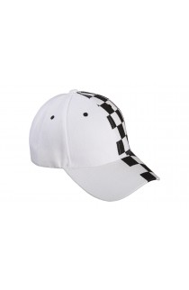 White Split Chessboard Baseball Hat