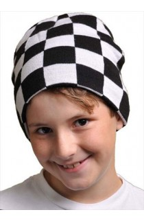 Chess Board Knit Cap