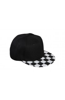 Black Peak Chessboard Baseball Hat