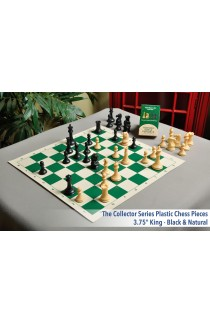 Musketeer Chess Leopard and Cannon Kit Bundled with HOS Luxury Plastic Chess Pieces