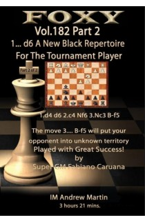 E-DVD FOXY OPENINGS - Volume 182 - 1.... d6 - a New Black Repertoire for the Tournament Player - Part 2