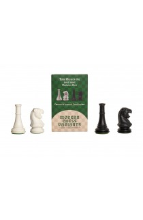 Leopard and Cannon - Musketeer Chess Variant Kit - 4 Set - Black & Ivory