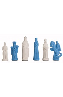 """The Camelot Series Luxury Porcelain Chess Pieces - 5.0"""" King"""