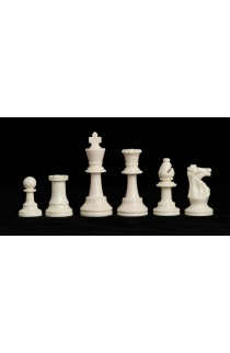 "Triple Weighted Regulation Plastic Chess Pieces - 3.75"" King"