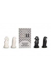 Elephant and Hawk - Musketeer Chess Variant Kit - 4 Set - Black & Ivory